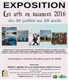 Affiche Les arts en vacances 2016