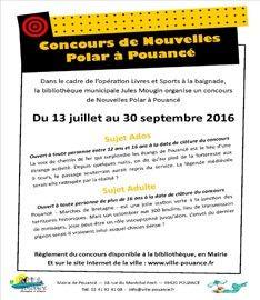 Affiche concours Nouvelles Polar à Pouancé image principale