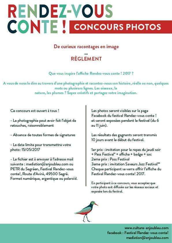 Règlement concours photo rdv conte 2017