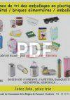 Tri emballage plastique, métal, carton, brique alimentaire
